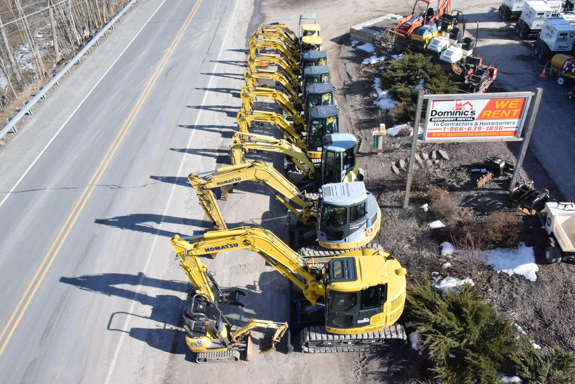 our full line of excavators picture